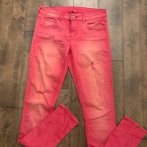 HM divided brand pants. Size 6. Distressed red